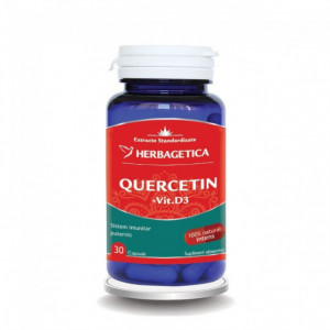 Quercetin + Vitamina D3 - 30 cps