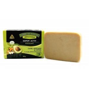 Sapun Activ Exfoliant cu samburi de caise, morcov, avocado si note citrice - 100 g
