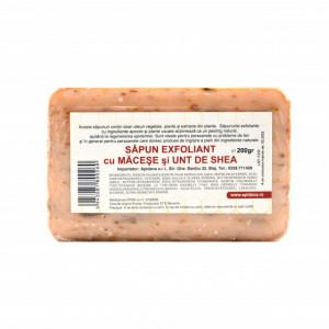 Sapun exfoliant cu macese si unt de shea - 200 g Apidava