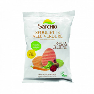 Snack sarat cu legume, fara gluten, BIO ECO Sarchio - 55g