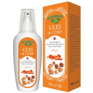 Ulei de corp cu ulei de argan si extract uleios de morcov (nota florala) 200 ml