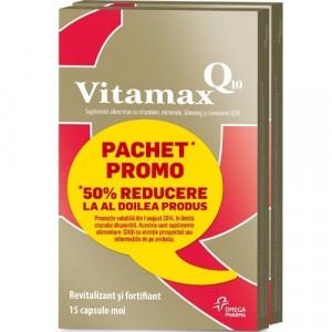 Vitamax Q10 - 15 capsule moi 1+1 (50% reducere la al 2-lea produs)