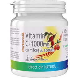 Vitamina C 1000 mg cu Acerola Portocale cu macese - 10 cpr