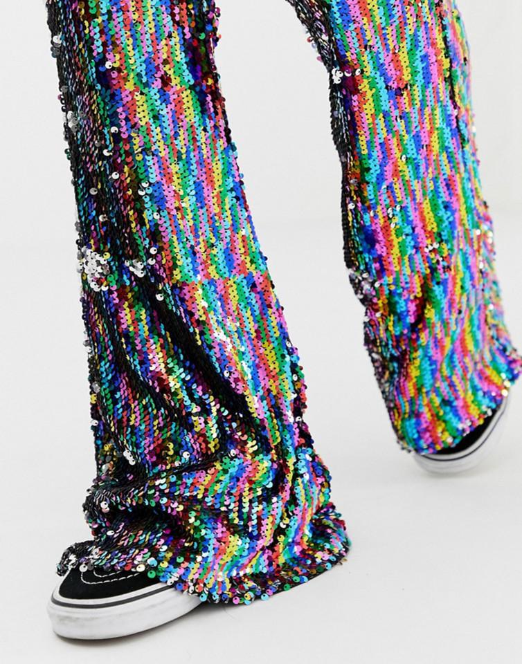 Pantaloni cu paiete
