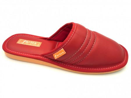 papuci-casa-piele-rosu