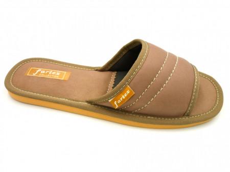 papuci casa-piele-grej