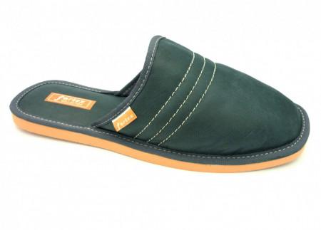 papuci casa piele gri