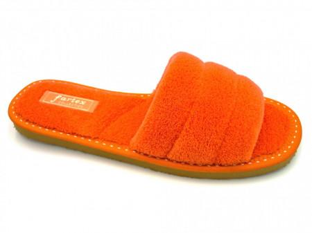 papuci casa frotir portocaliu