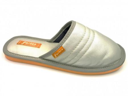papuci-casa-piele-argintiu