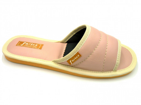 papuci casa-piele-rose