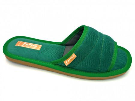 papuci casa raiat verde