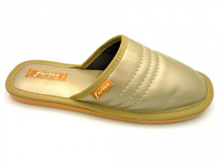 papuci-casa-piele-auriu