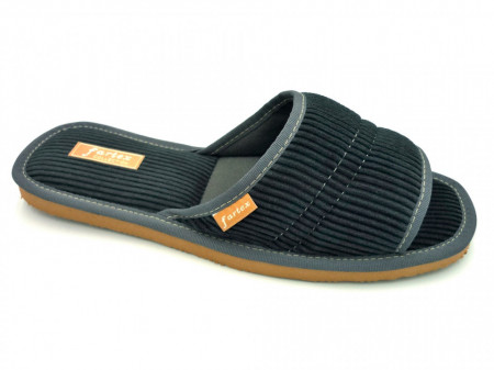papuci de casa barbati raiat gri-2