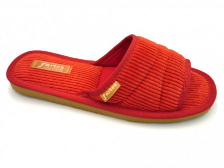 papuci casa raiat rosu