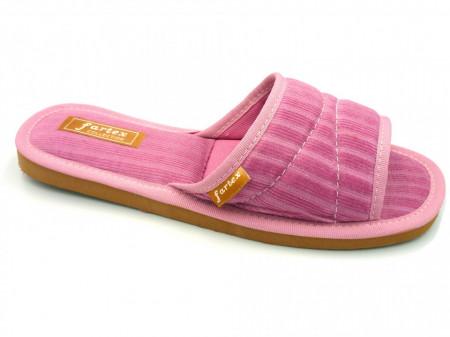 papuci casa raiat roz