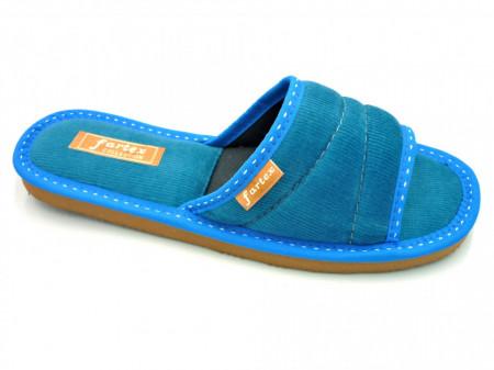 papuci casa raiat bleu