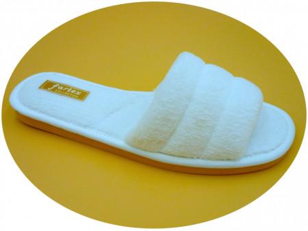 papuci casa frotir alb