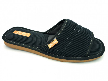 papuci casa barbati raiat negru-2