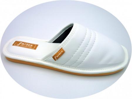 papuci-casa-piele-alb