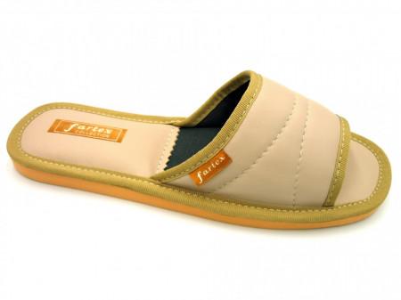 papuci casa-piele-bej