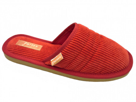 papuci casa-raiat-rosu-NE