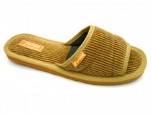 papuci de casa bej decupati