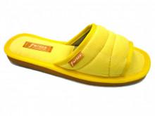 papuci casa galben decupati