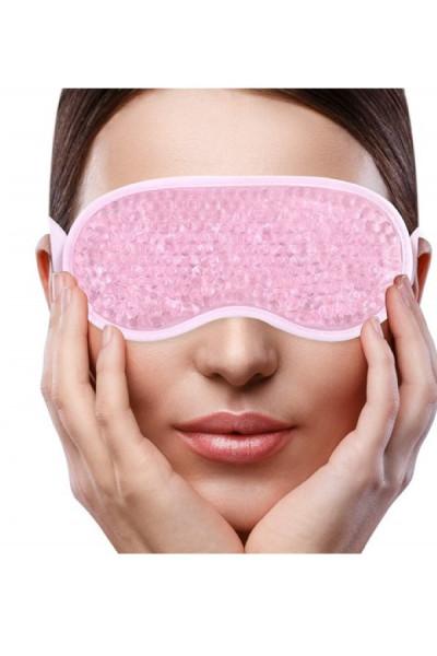 Ochelari cu gel pentru fata OttoCare pentru tonifierea ochilor, eliminarea cearcanelor, a ochilor umflati si a durerilor de cap - folosire la rece sau cald - roz
