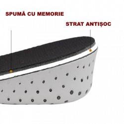 Branturi (talpici) inaltatoare cu 3-4 cm Otto, german design, din spuma cu memorie, Onesize