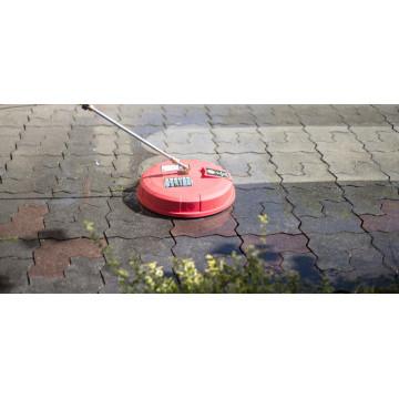 Perie cu duze rotative 38cm pentru curatare suprafete mari, cu duze rotative (rosie)
