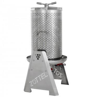 Presa za grožđe na vodu INOX 35L Zottel
