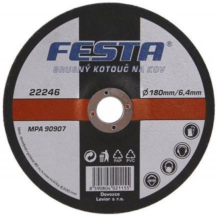 Brusna ploča za metal fi 180/6,4mm Festa