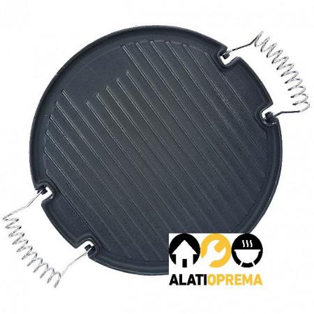 Roštilj ploča - tučana sa inox ručicama 30cm