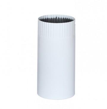 Cev za peć emajlirana bela 25cm