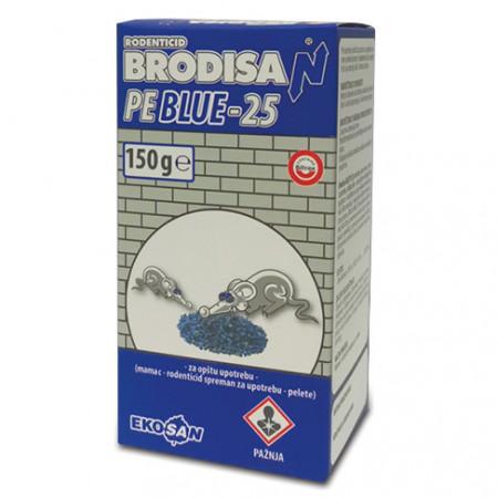Peleti za miševe i pacove PE-25 plavi 150g BRODISAN