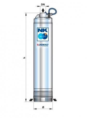 Potapajuća pumpa za bunare NKm 2/5 GE Pedrollo