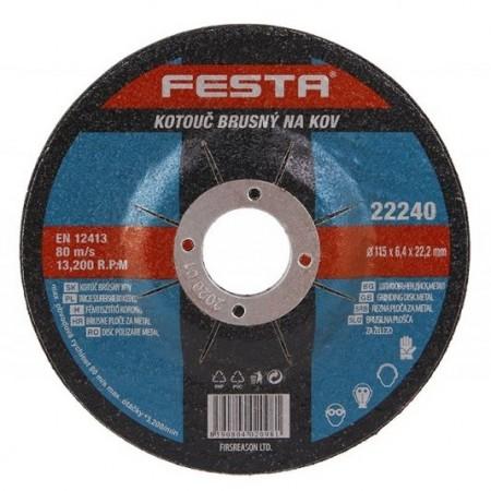 Brusna ploča za metal fi 115/6,4mm Festa