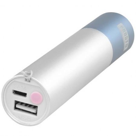 Baterijska LED punjiva lampa i power bank - roza PROSTO