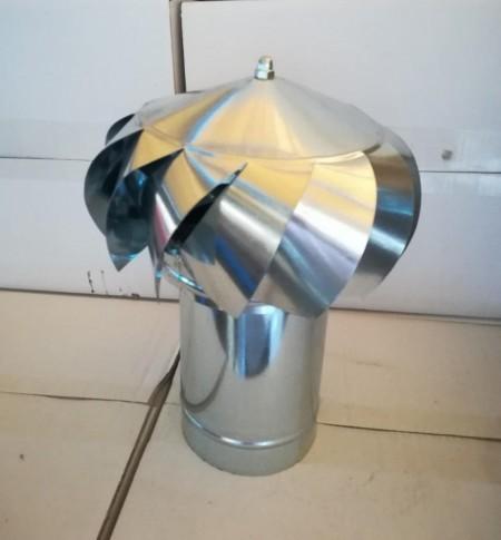 Ventilaciona kapa za dimnjak 120mm INOX