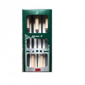 Turpije za metal sa drškom fine fin.3 SET 150-200mm Kaiser Feilen