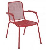Baštenska metalna stolica – crvena Lopo