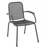 Baštenska metalna stolica – tamno siva Lopo