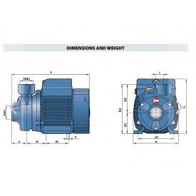 Površinska centrifugalna hidroforska pumpa PKm 60 Pedrollo