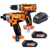 Akumulatorska bušilica VLN 3220 i akumulatorski udarni odvijač VLN 3420 FUSE set VILLAGER
