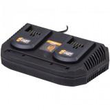 Brzi punjač za dve baterije FUSE 2x3.5 A VILLAGER