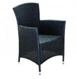Baštenska stolica od ratana – crna ATLANTIC