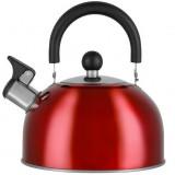 Čajnik INOX 2.5L - crveni AURORA