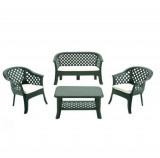 Baštenski set sto 2 stolice dvosed Veranda zeleni