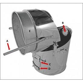 Ložište - brzoparilnik 120L INOX Zottel