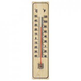 Termometar kućni - drveni STREND PRO